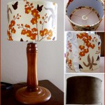 Fabric Lampshade Makeover