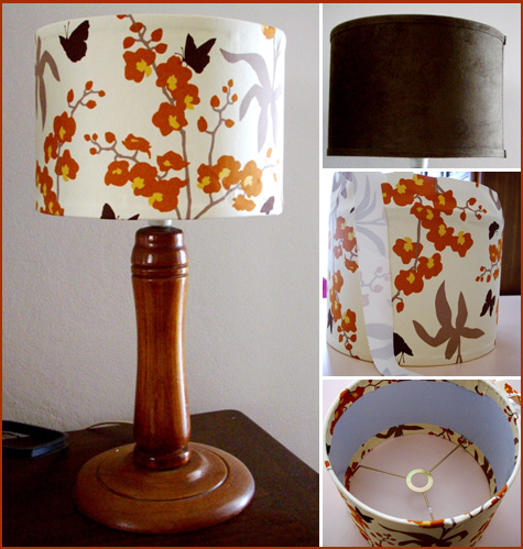 Lampshade Fabric Refashion
