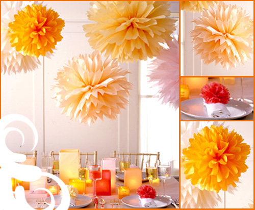Tissue Pom Decorating Inspiration!