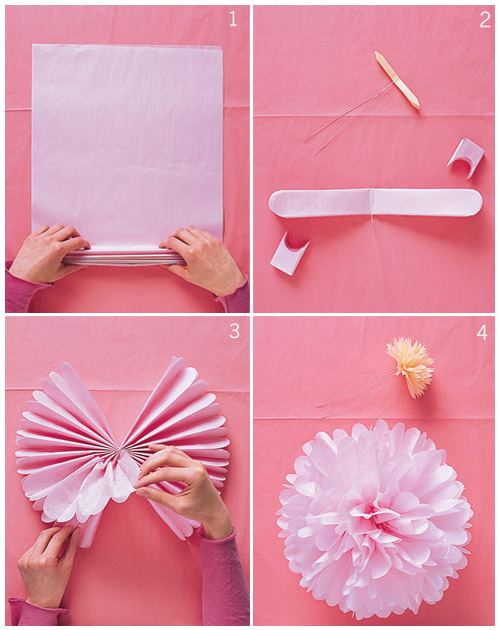 Tissue Pom How-To