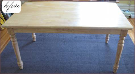 Before & After: Chalkboard Dining Table 2