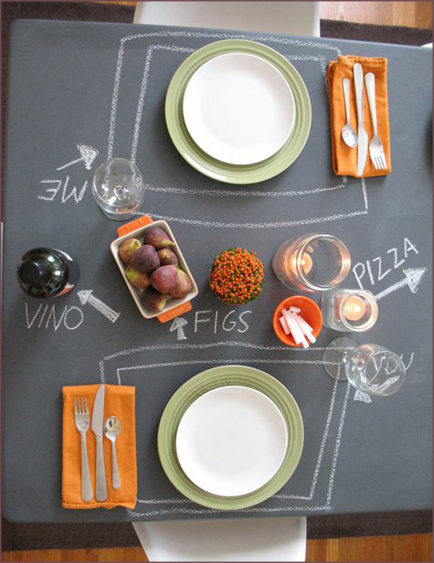 Before & After: Chalkboard Dining Table