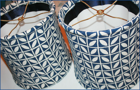 DIY Navy Custom Lampshades 2