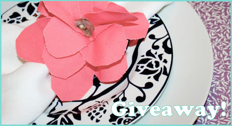 Giveaway: Fabric Flower Napkin Ring