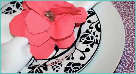 Flower Napkin Ring Giveaway Sneak Peak