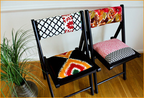 Before & After: Fabric Folding Chair