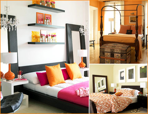 Design help burnt orange couches for Burnt orange bedroom ideas
