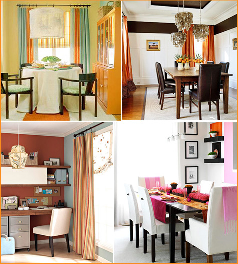 How About Orange? Orange Dining Room 4
