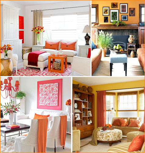How About Orange? Orange Living Room 2