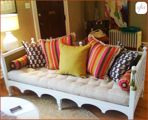 Before & After: Colorful Day Bed 2