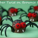 Creepy Crawly Spider Brownie Bites