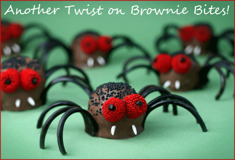 Spider Brownie Bites PNG