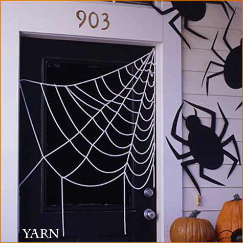 DIY Spider Webs Yarn