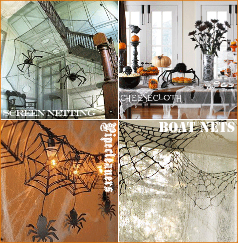 DIY Spider Webs