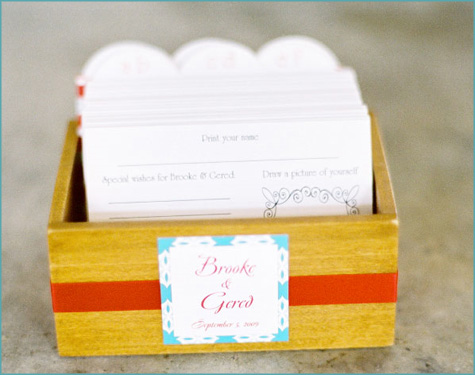 Style Me Pretty Guest Book Box