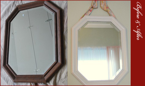 Before & After DIY Mirror 3