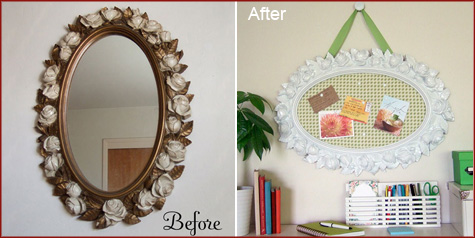 Before & After DIY Mirror 4