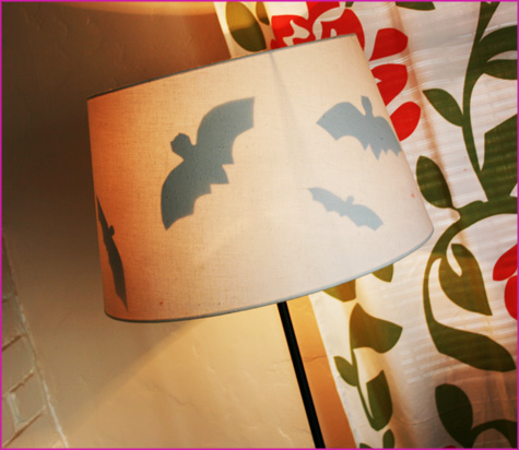 Halloween Inspiration: Batty Lampshades