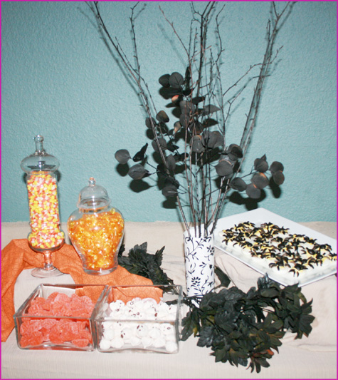 Halloween Inspiration Recap & Dessert Appetizer Buffet Table