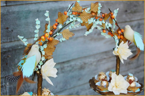 Vintage Thanksgiving Orange and Turquoise 6