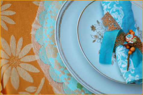 Vintage Thanksgiving Turquoise & Orange 2