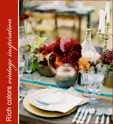 Vintage Rustic Thanksgiving Inspiration Reds 2