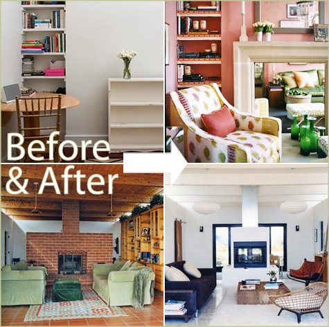 Beautiful Before & After Living Rooms by Habitat Hanalei Interiors