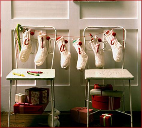Stocking Garland DIY
