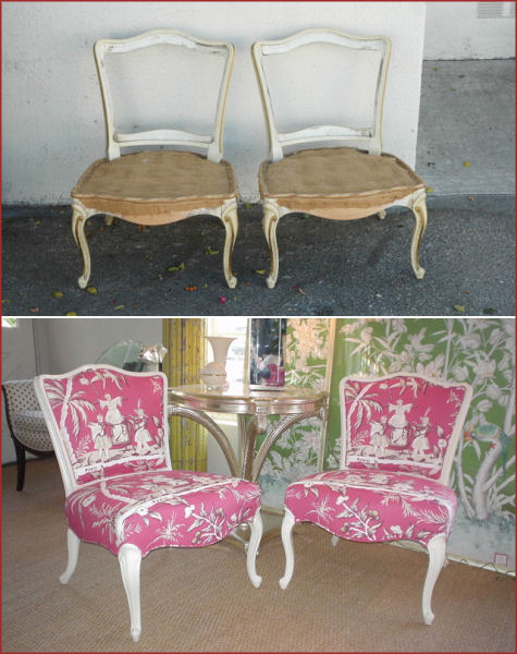 Ruthie Sommers Refashion Before and After: Chairs