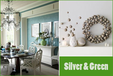 Silver & Green Party New Year's Eve Inspiration