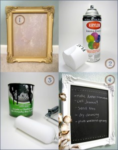 Chalkboard Frame DIY Before & After