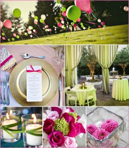 Green & Pink Bridal or Baby Shower