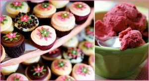 Green, Pink & Choral Baby or Bridal Shower