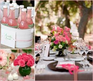 Green & Pink Shower Inspiration