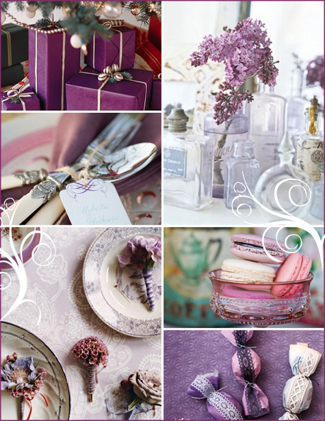 A Winter Wonderland: Purple & White Shower - Pepper Design Blog