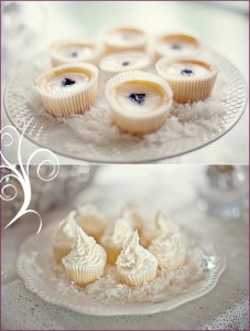 Purple & White Winter Shower Bridal Baby 5