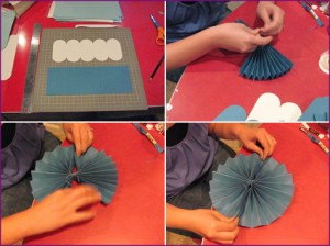 DIY Paper Accordian Flower Rosette Handmade 3