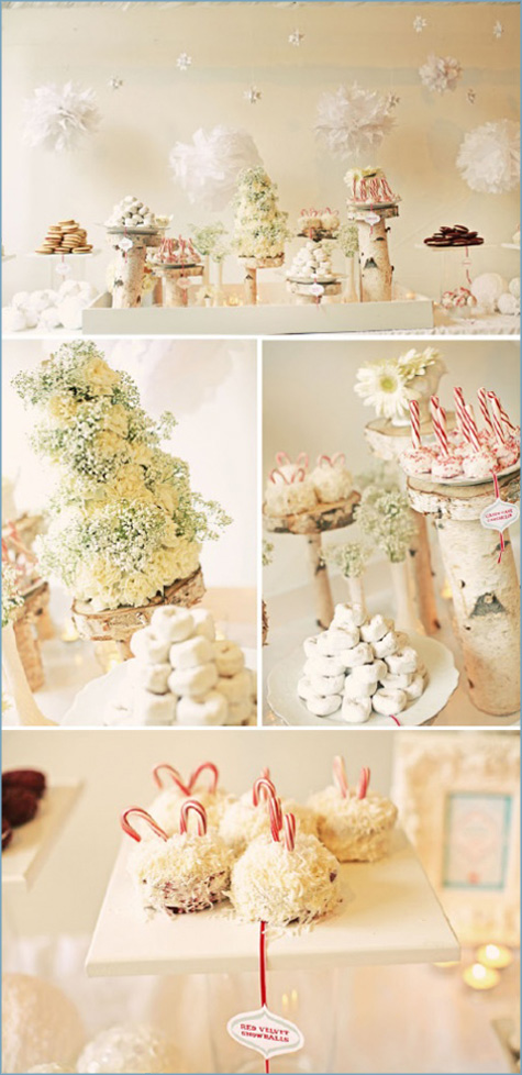 Winter Wonderland White Dessert Bar