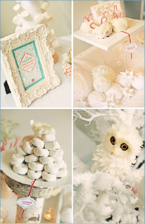 Winter Wonderland Dessert Bar Inspiration 2 White