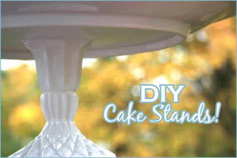 Easy DIY Handmade Cake Stand Main