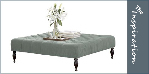 Square Ottoman Coffee Table Leather Hereu0027s