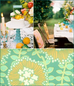 Teal, turquoise, yellow, orange party inspiration shower 4