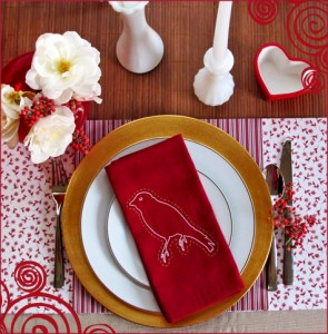 Valentine's Day Giveaway Social Couture Red Modern Dinner Party Romantic 3