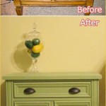 Before and After Dresser, Green, Shabby Chic, Baskets