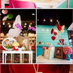 3 Alice in Wonderland themed baby shower, party, mad hatter, teal, pink
