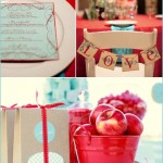 3 Mother's Day Inspiration, Red & Teal & Turquoise Party, Shower, Brunch, Birthday, Dinner