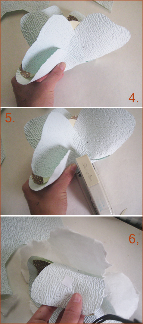 Vintage nesting paper flower chandelier tutorial pepper design blog diy project handmade paper flowers mightylinksfo