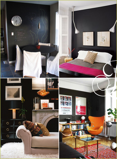 Favorite Trend: Black & Chalkboard Accent Walls - Pepper Design Blog