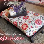 1 Coffee table into an ottoman, refashion, suzani, diy, craigslist furniture, thrift