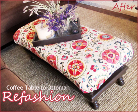 DIY Tutorial Turning a Coffee Table into an Ottoman Pepper Design